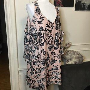 Parker peal paradise blush dress NWT
